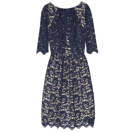 ERDEM Margot ruched lace dress