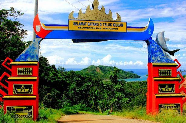 Pintu Masuk Pantai Teluk Kiluan Lampung