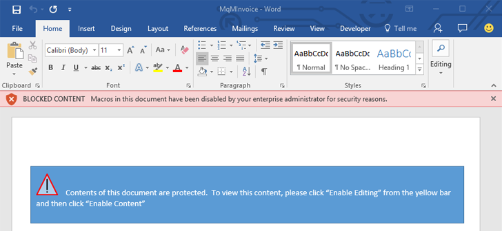 Enable this new setting to secure your computer from macro for Microsoft word macro enabled template