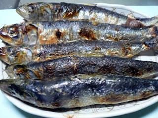 酒の肴 焼き魚 イワシ塩焼き