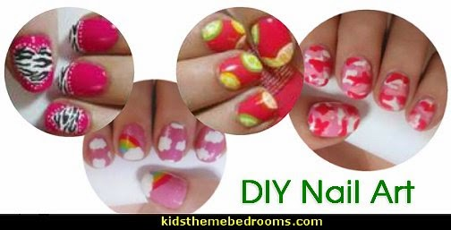 nail art design ideas- Summer Citrus. Hot Pink Zebra nail design ideas