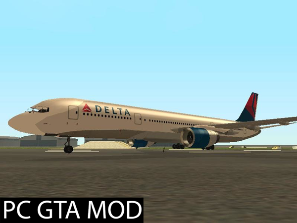 Free Download  Boeing 757-200 Delta Airlines  Mod for GTA San Andreas.