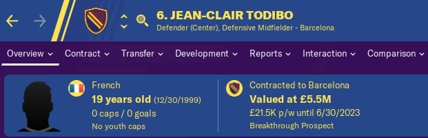 FM20 Wonderkid Analysis - Jean Clair Todibo