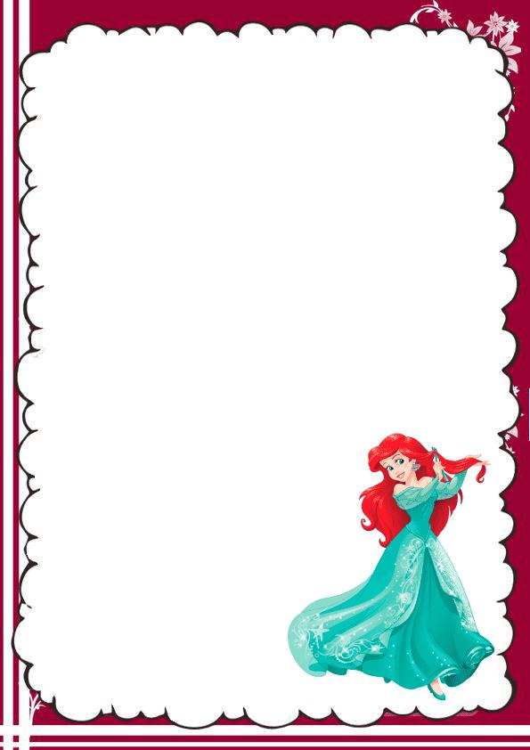 Hermosa caratula para cuaderno de la sirenita