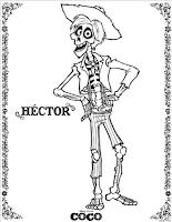 Disney•Pixar's Coco Colouring Page - Héctor