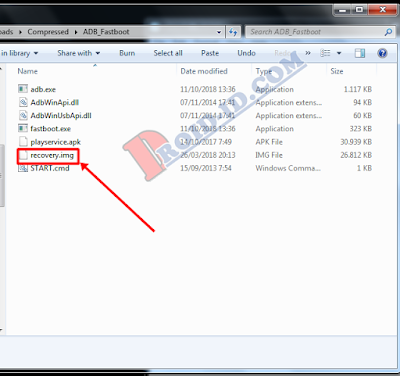 Copy file recovery.img ke adb fastboot