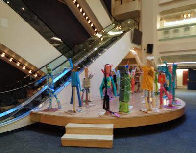 life-sized papier-mache figures