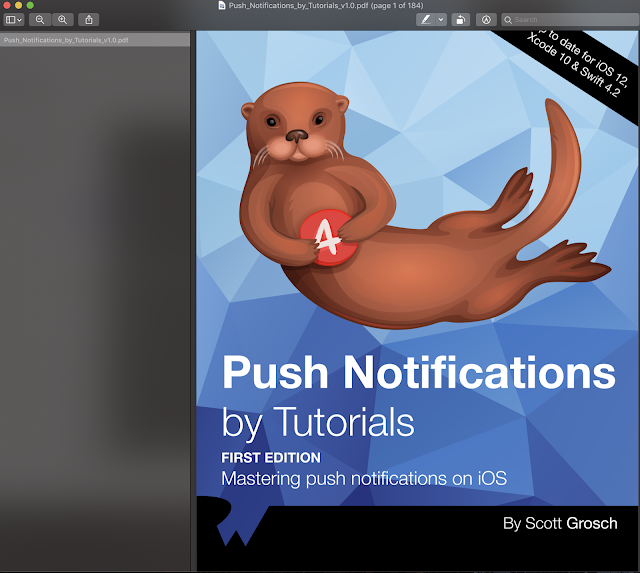 Push Notifications By Tutorial First Edition Update for IOS 12 Xcode 10 and Swift 4.2
