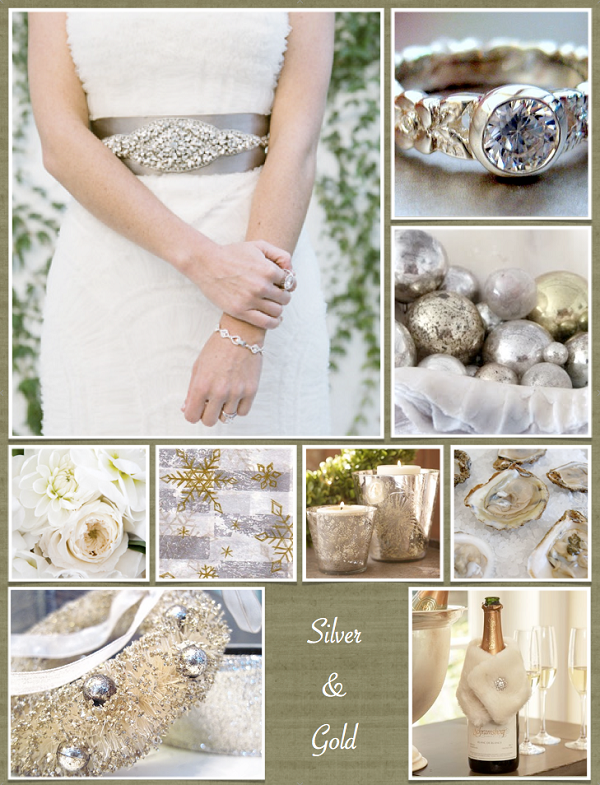 A Silver and Gold Theme Wedding