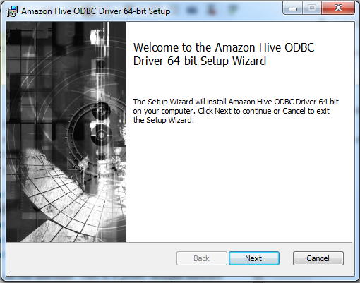 Setting up AWS EMR with Windows ODBC driver for Hive  | $ServerName