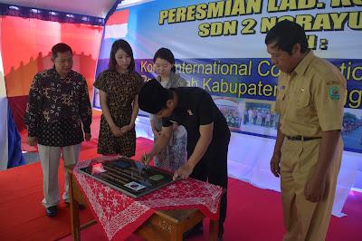 Wakil Bupati Trenggalek H. Moch. Nur Arifin Resmikan Laboratorium Komputer SDN 2 Ngrayung Bantuan Dari KOICA