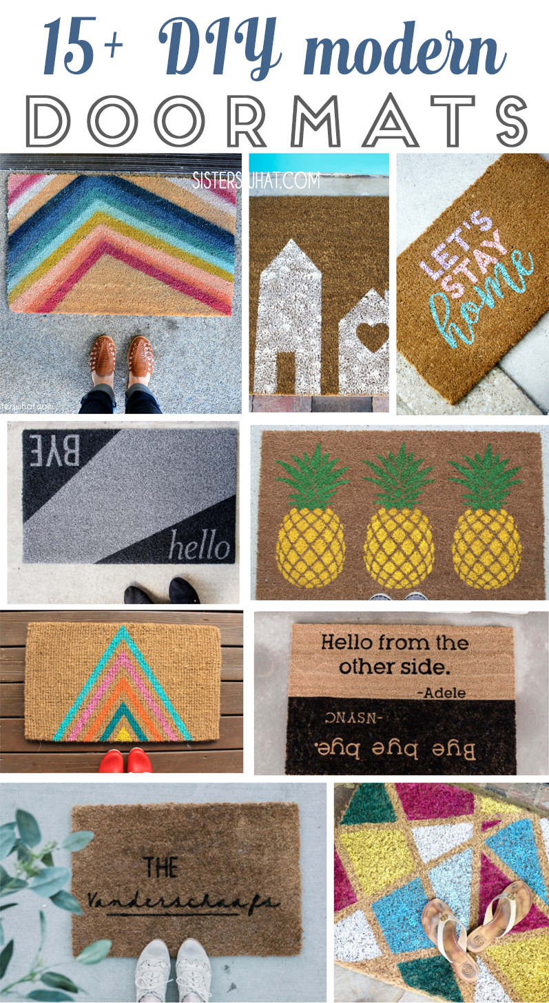 15 modern diy door mats