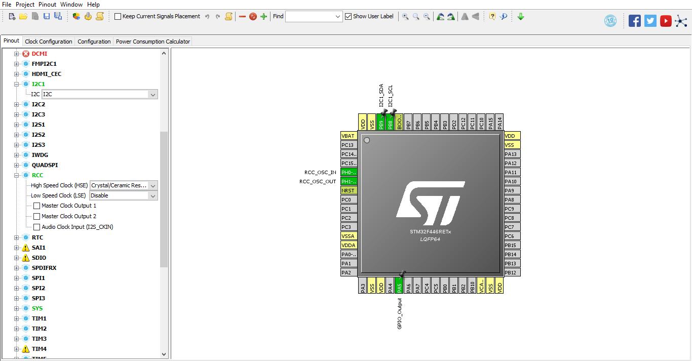 Tutorial STM32, Cara Mengakses I2C LCD 16x2 STMCube dan Keil