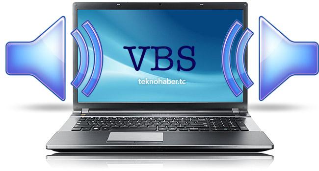 bilgisayar vbs ile konuşsun