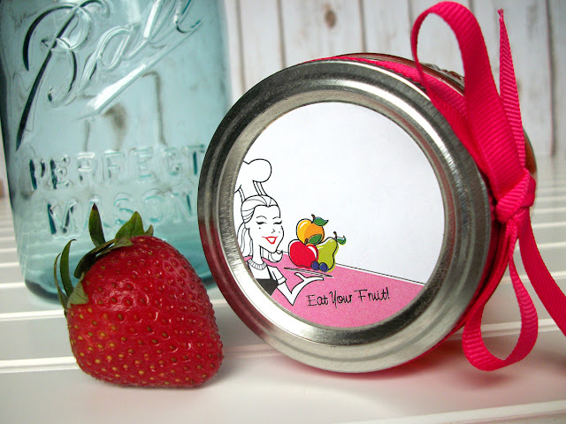 fruit canning jar labels