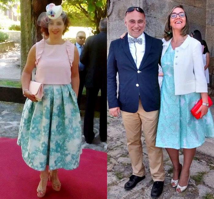 invitada perfecta boda falda vestido midi azul