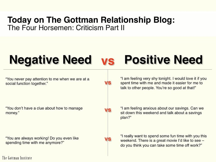negatives and positives of a relationship