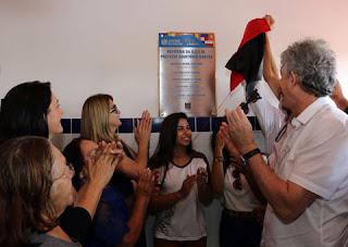 Ricardo inaugura duas obras na área da educação nas cidades de Frei Martinho e Cuité