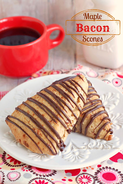 Maple Bacon Scones #maple, #bacon, #scones, #dessert, #breakfast