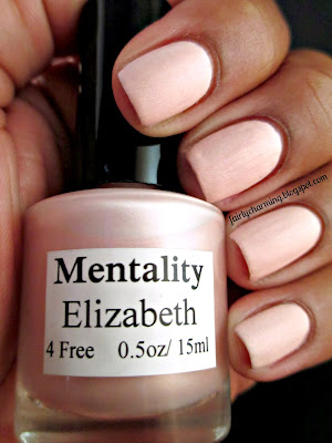 Mentality Nail Polish, Elizabeth, pink, romantic, matte, nails, swatch
