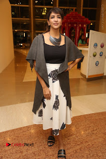Actress Lakshmi Manchu Pos at Asian Para Badminton Championship Winners Felicitation Ceremony  0087.JPG