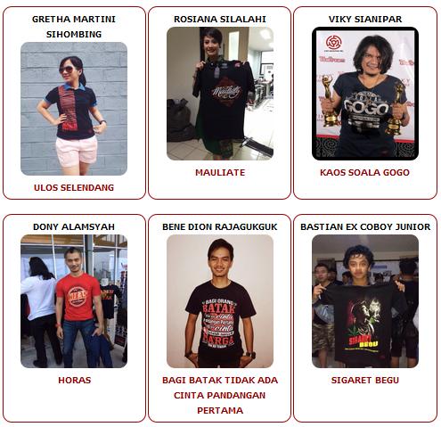 Apa Kata Bintang Indonesia Tentang Jualan Kaos Batak