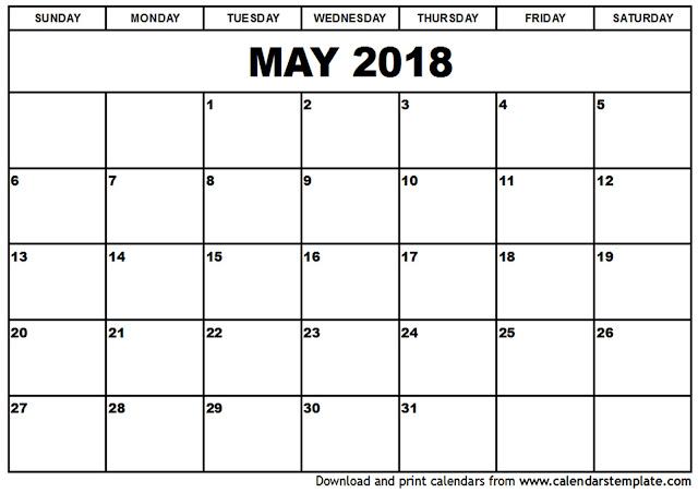May 2018 Calendar, May 2018 Calendar Printable, May 2018 Calendar Template, May Calendar 2018, Calendar May 2018, May 2018 Calendar PDF, May 2018 Calendar Word, May 2018 Calendar Excel