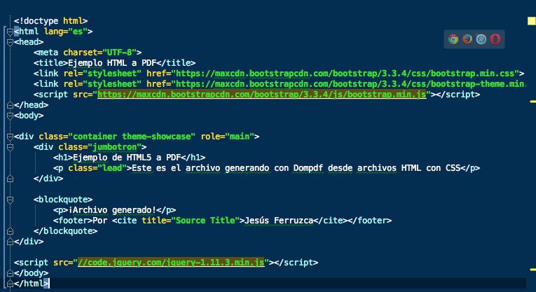 Composer: Ejemplo HTML a PDF con PHP (Parte 2)