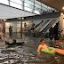Το είδαμε και αυτό! Σταθμός τραίνου στη Σουηδία πλημμύρισε και οι επιβάτες έκαναν... μπάνιο