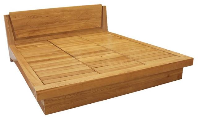 mẫu giường ngủ gỗ thông hiện đại giá rẻ
