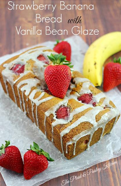 strawberry-banana-bread-with-vanilla glaze