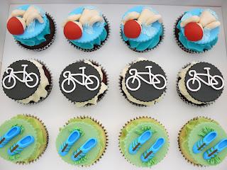 Triathlon Cupcakes