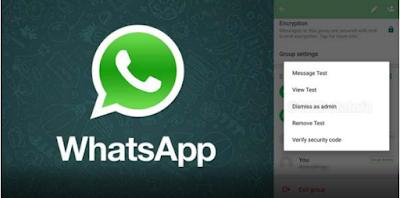 Fitur 'Dismiss' di WhatsApp Untuk Memberhentikan Admin Group