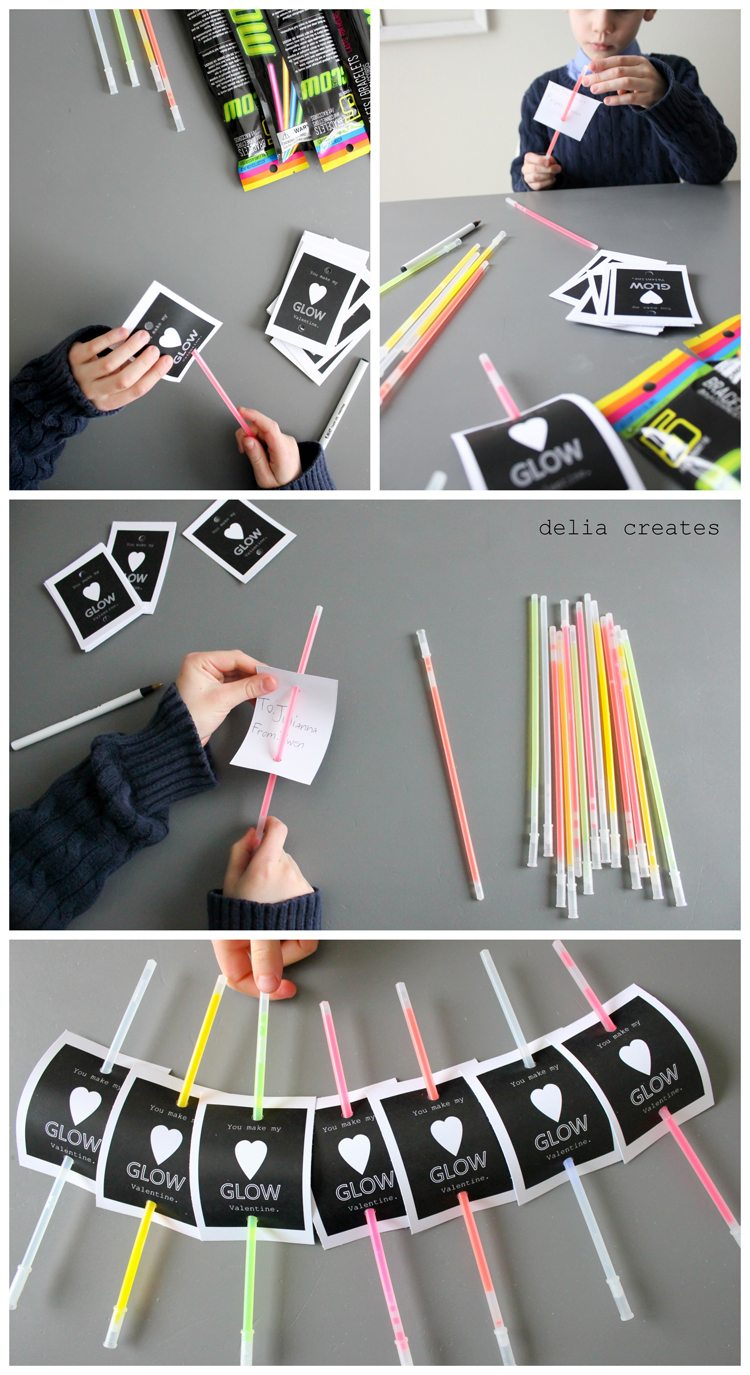 DIY Glow Stick Valentines - Party Inspiration |Pinterest Glow Stick Valentines