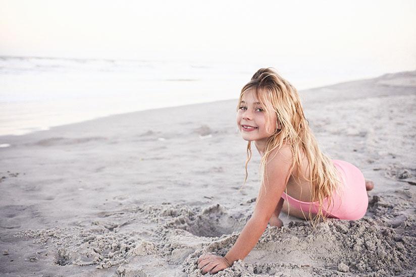 Little girl in reversible swimsuit by Sunuva