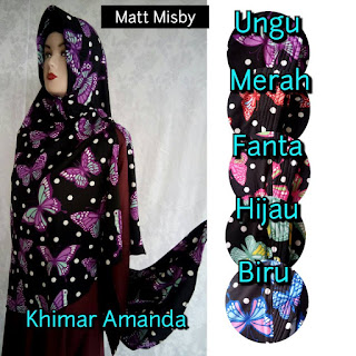 Khimar Syar'i Pet Motif Amanda Terbaru