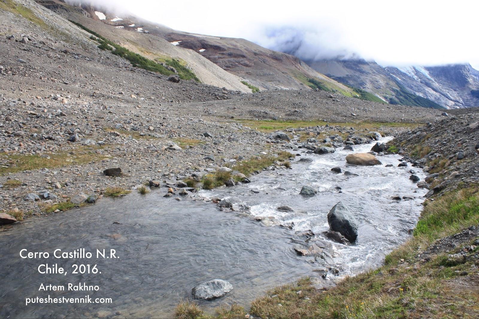Горная река в горах Чили