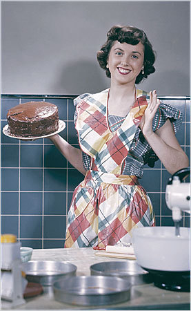 Retro lady in the kitchen circa 1950