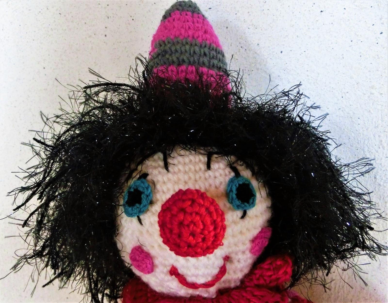 Ein Kleiner Blog Gehäkelter Clown Mit Anleitung Cal Auf Fb