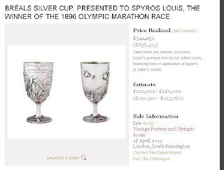 Το Ίδρυμα «Σταύρος Νιάρχος» απέκτησε σε δημοπρασία του οίκου Christie's το Κύπελλο του Σπύρου Λούη