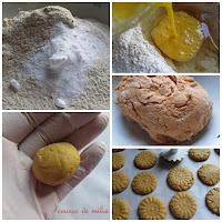 Galletas de harina de maíz y castañas al limoncello