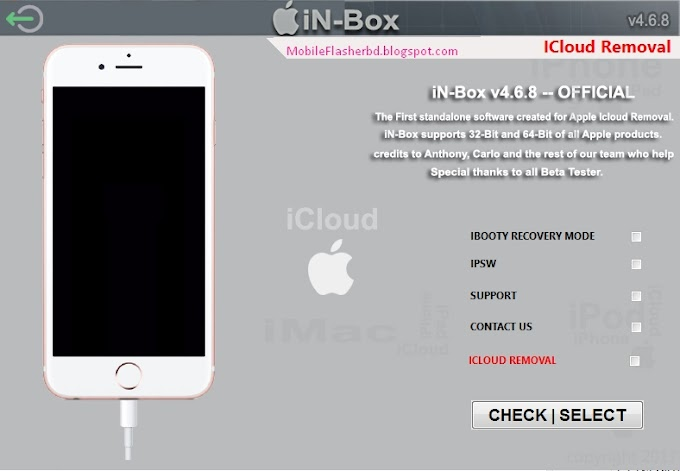 In-Box V4.6.8 Official Icloud Removal Tool Free Download By Jonaki Telecom