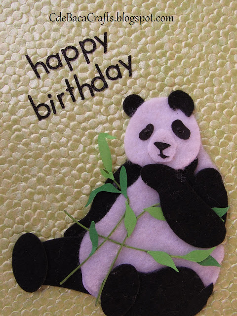 Handmade Happy Birthday Card with Panda Bear by CdeBaca Crafts Blog