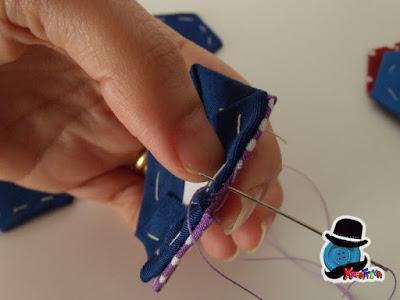 cucire affiancati gli esagoni