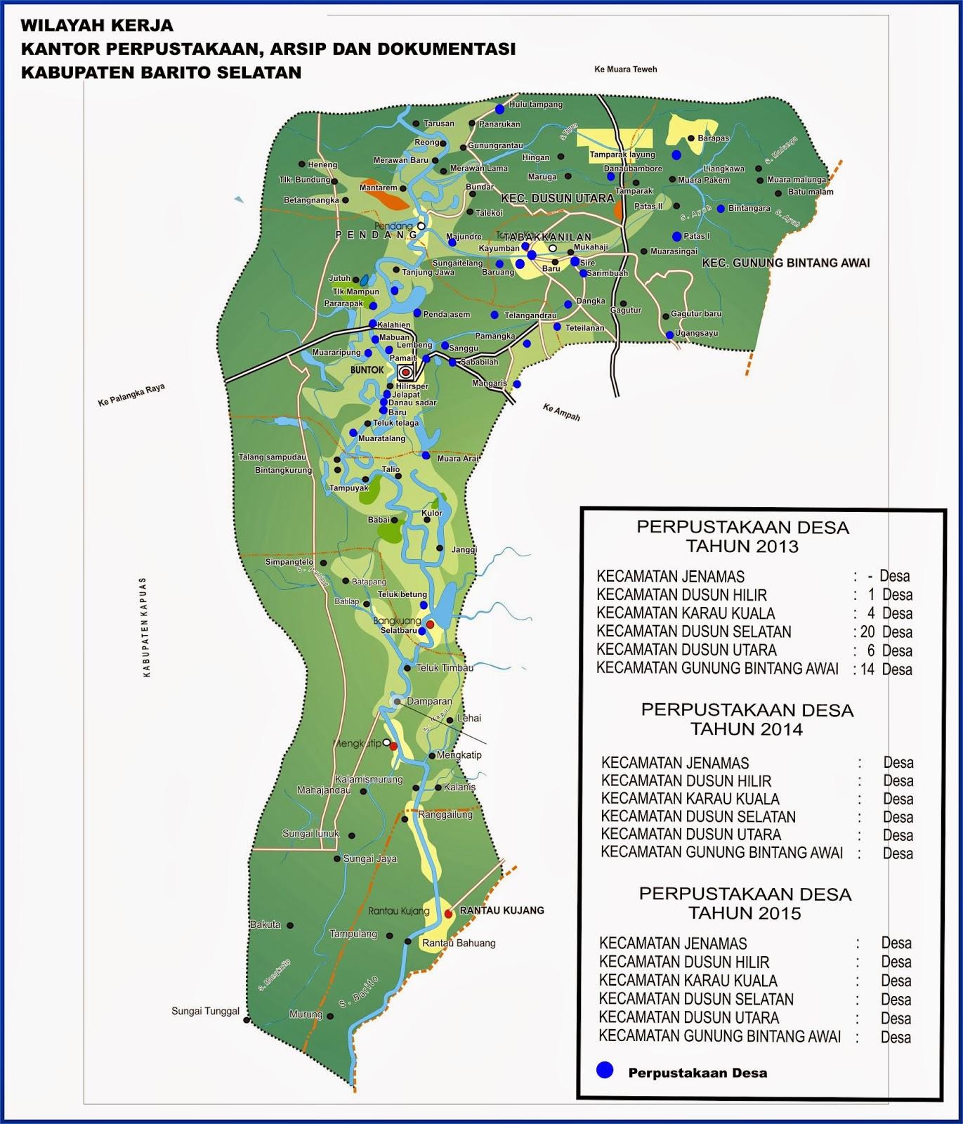 Peta Kota: Peta Kabupaten Barito Selatan