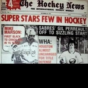 Oct. 1974 Hockey News: Mike Marson 'First Black To Crack NHL In 15 Years' (Book Pg. 140)