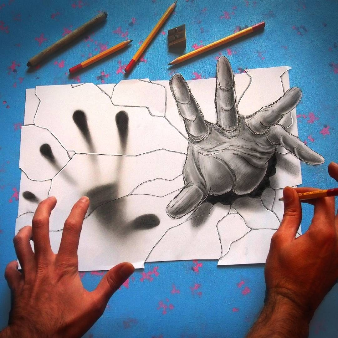 08-They-are-coming-for-me-Ramon-Bruin-Optical-Illusions-in-3D-Drawings-www-designstack-co