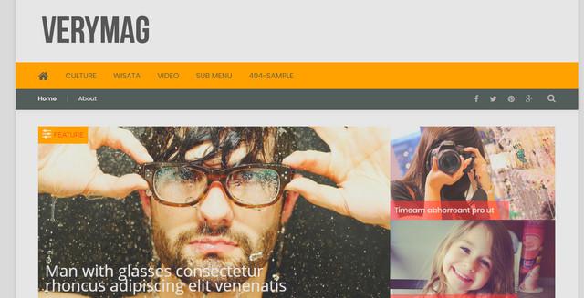 VeryMag Responsive Magazine Blogger Templates