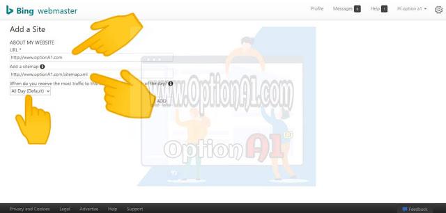 كيفية اضافة موقعك او مدونتك الى ادوات مشرفى المواقع bing webmaster tools  لظهور موقعك على محركات بحث بنج وياهو وخطوات ارشفة الموضوعات how to submit website to bing