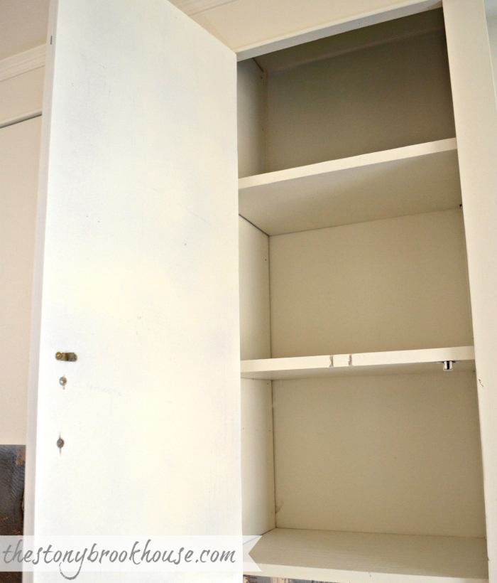 Inside cabinets